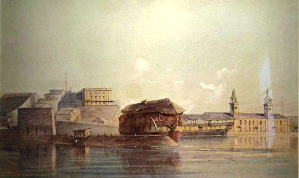 Royal Navy Dockyard by Gaspar Le Merchant Tupper