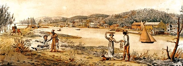 Slavery in Bermuda 1825 at Flatts