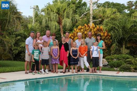 Tucker family in Bermuda in 2013
