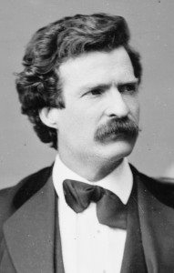 Twain as a younger man, in Bermuda