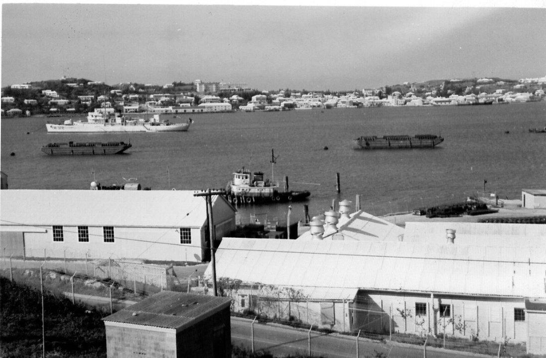 US Navy submarine base, Ordnance Island, St. George's, WW2