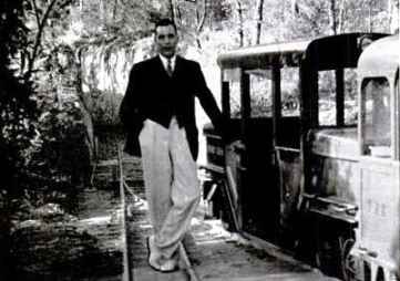 Vincent  Astor and his 1938 Bermuda train, Life photo