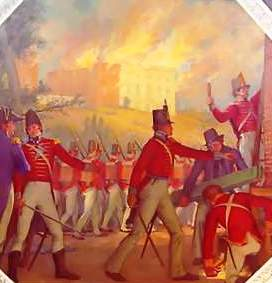 Washington burned by British 1814