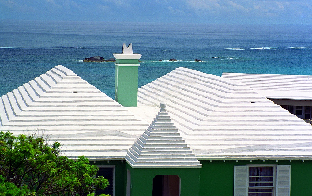 white-washed Bermuda roof