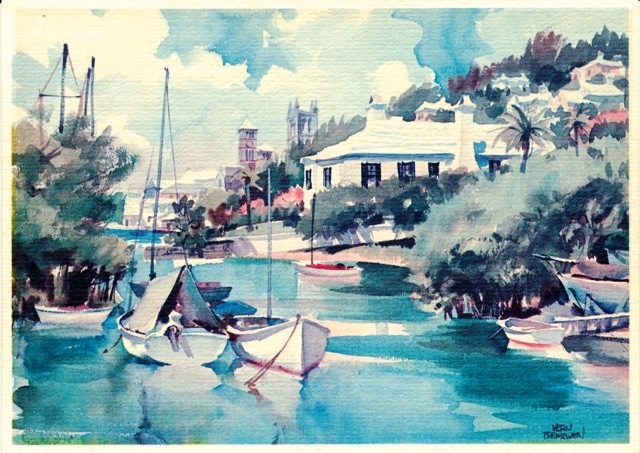 Art by Vern Tremewen in Bermuda 1