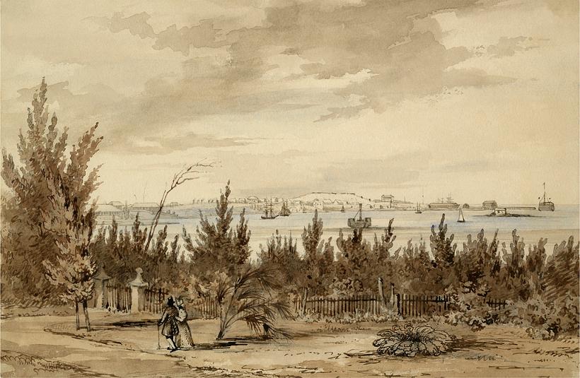 LATE 1800'S BEACH SCENE SOUTHAMPTON NEW YORK PAINTING ART REAL CANVAS PRINT