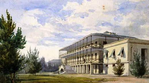 Royal Naval Hospital, Bermuda, Johnson Savage MD, about 1835
