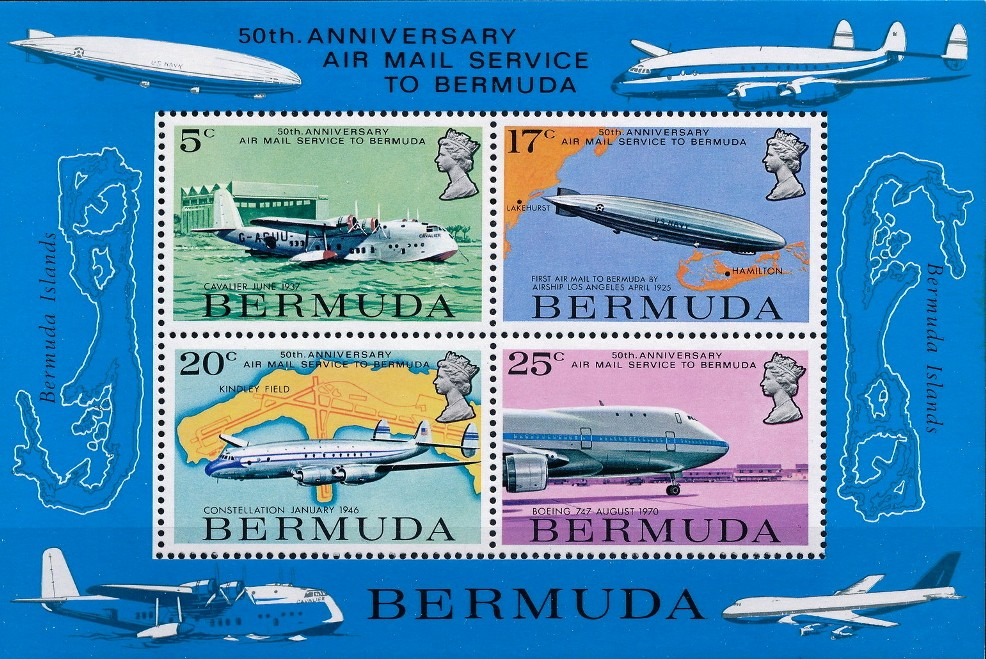 1987 Bermuda aviation postage stamps