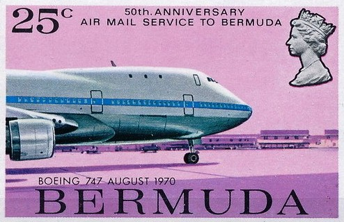 first Boeing 747 flight to Bermuda 1970