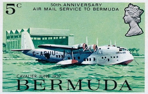 Imperial Airways Cavalier in Bermuda stamp
