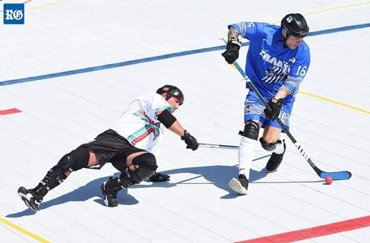 aad249affee The game is similar to ice hockey in play and rules but on a hard surface  instead of ice and with a hockey ball instead of a puck.