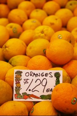 Bermuda prices for oranges, October 2008