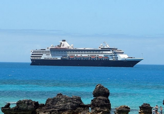 Cruise ship Veendam off St. George's