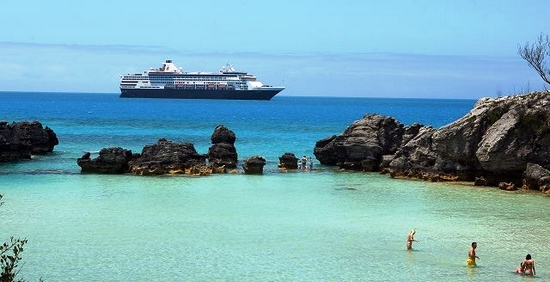 Cruise ship off Bermuda