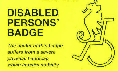 disabled person's parking badge