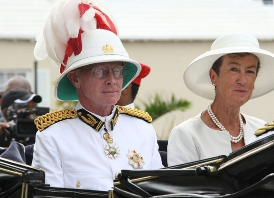 Former Governor Sir Richard and Lady Gozney