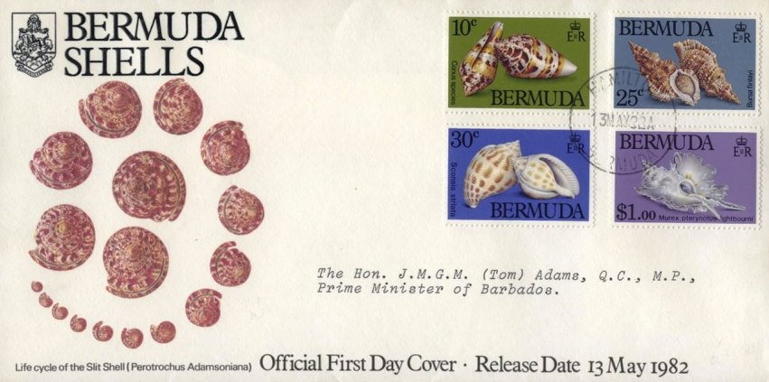 1982 Bermuda Shells First Day Cover