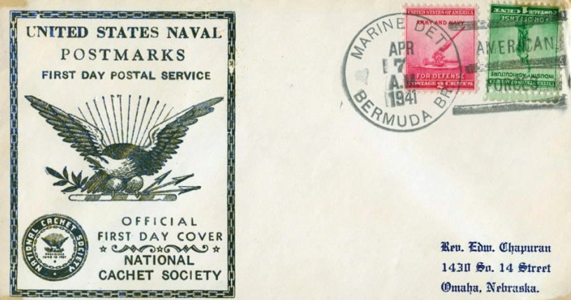First USA stamps issued from 1941 Bermuda base