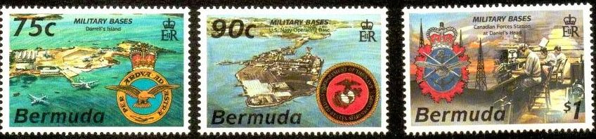 Bermuda military bases postage stamps 1