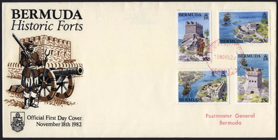November 1982 Bermuda stamps of forts