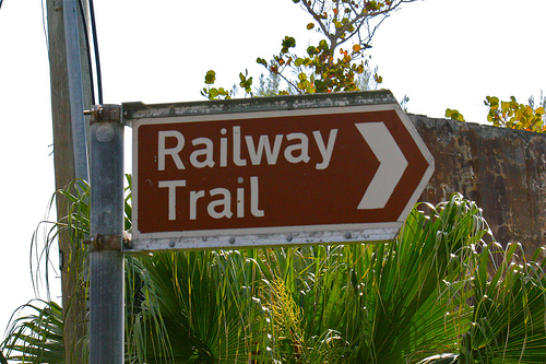railway trail sign