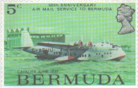 Flying boat stamp 50 years later