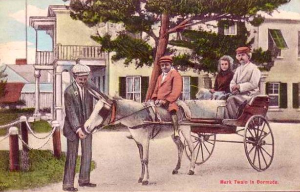 Mark Twain in Bermuda postcard