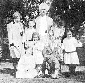 Mark Twain with family in Bermuda