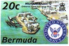 Bermuda stamp saluting US base