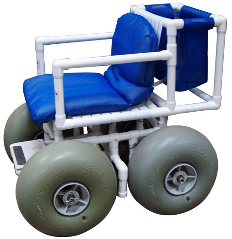 wheelchair beachchair on large wheels