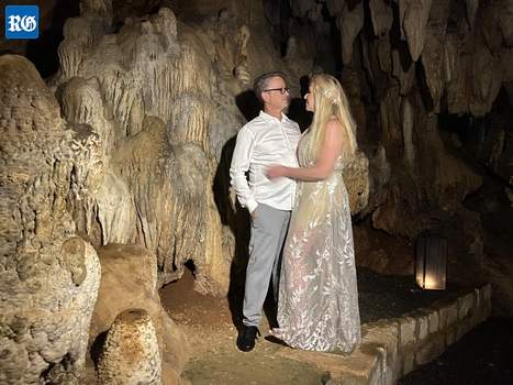 2020 January 3, renewal of wedding vow in a cave