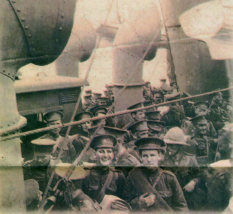 Bermudians en route to France in World War 1