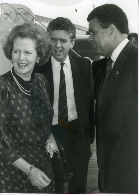 Margaret Thatcher in Bermuda