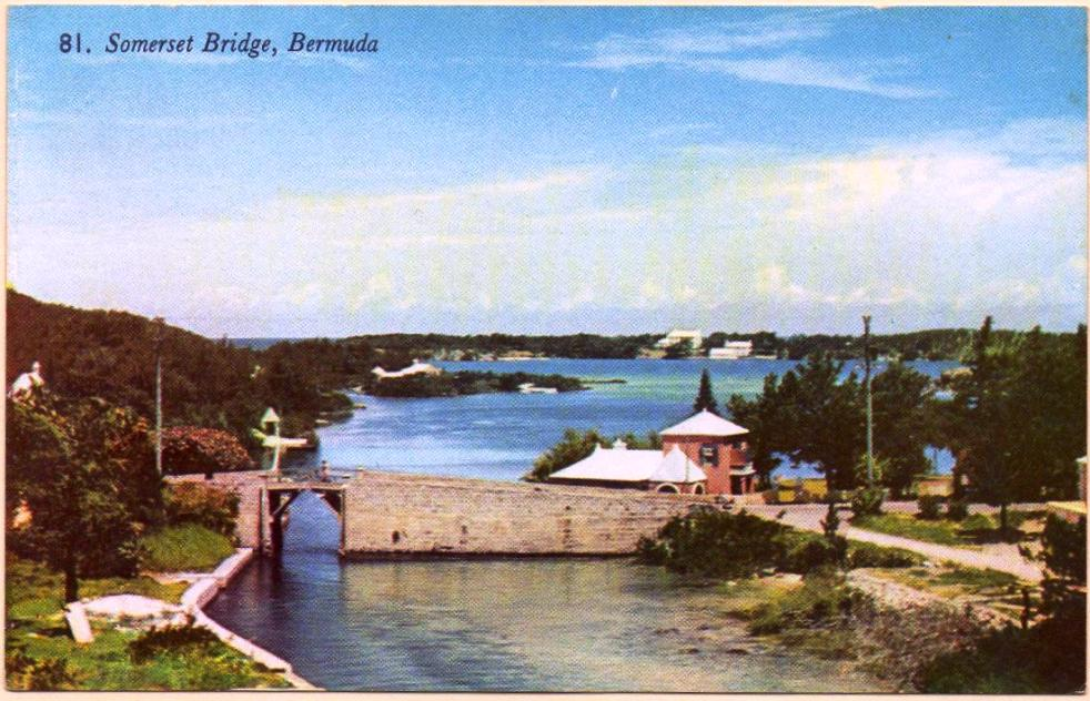 Somerset Bridge, old post card