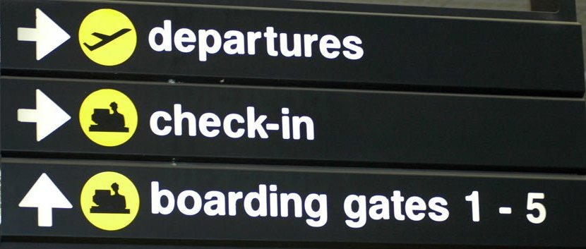 Departure signs