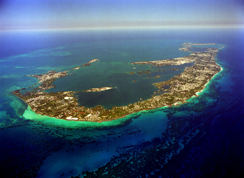 Bermuda from the air
