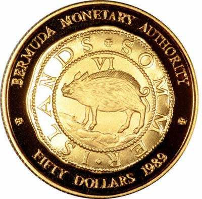 Hogge money commemorative gold coin 1989