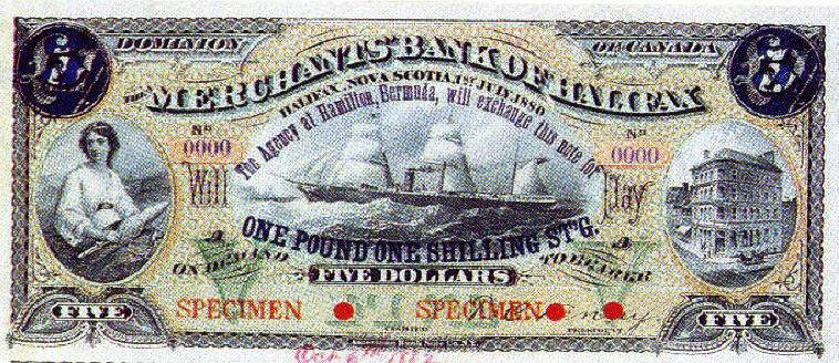 First Bermuda banknote - from Canada